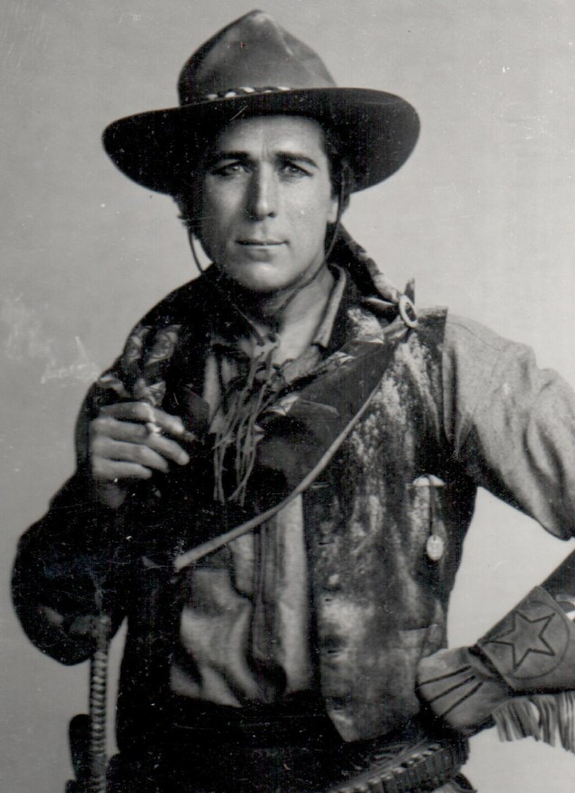 Black and white photo of William Hart in western costume