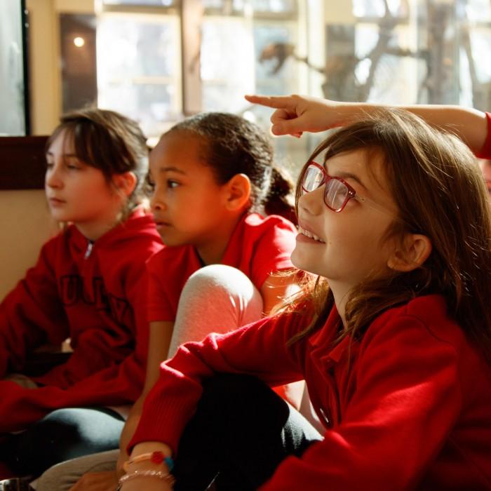 kids in age of mammals on school field trip subaru corporate