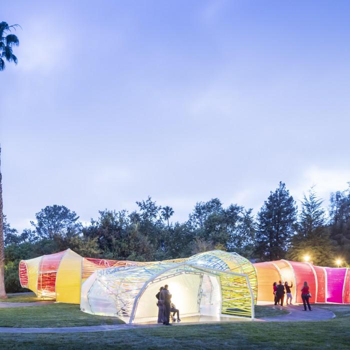 serpentine pavilion evening light
