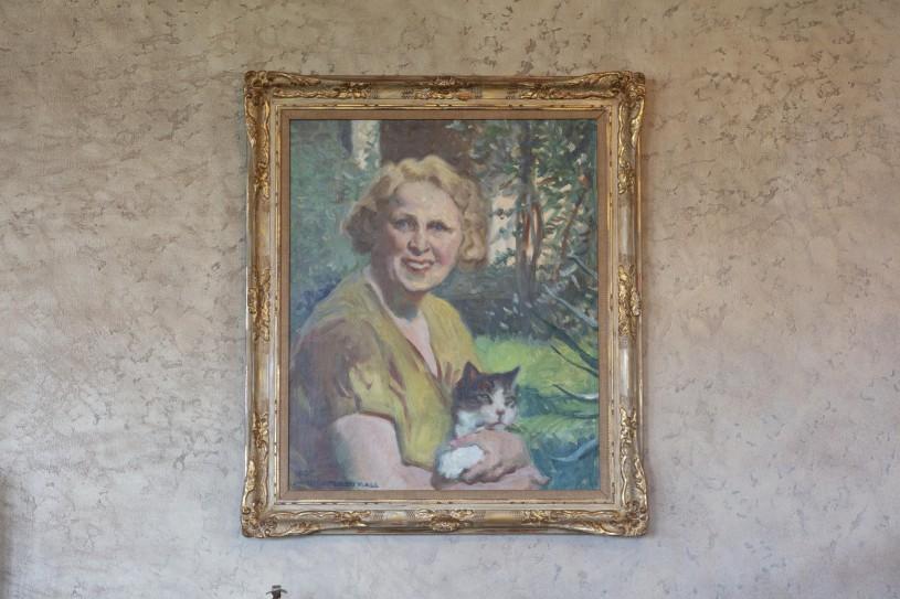 mary ellen hart westport pouffins painting portrait hart museum