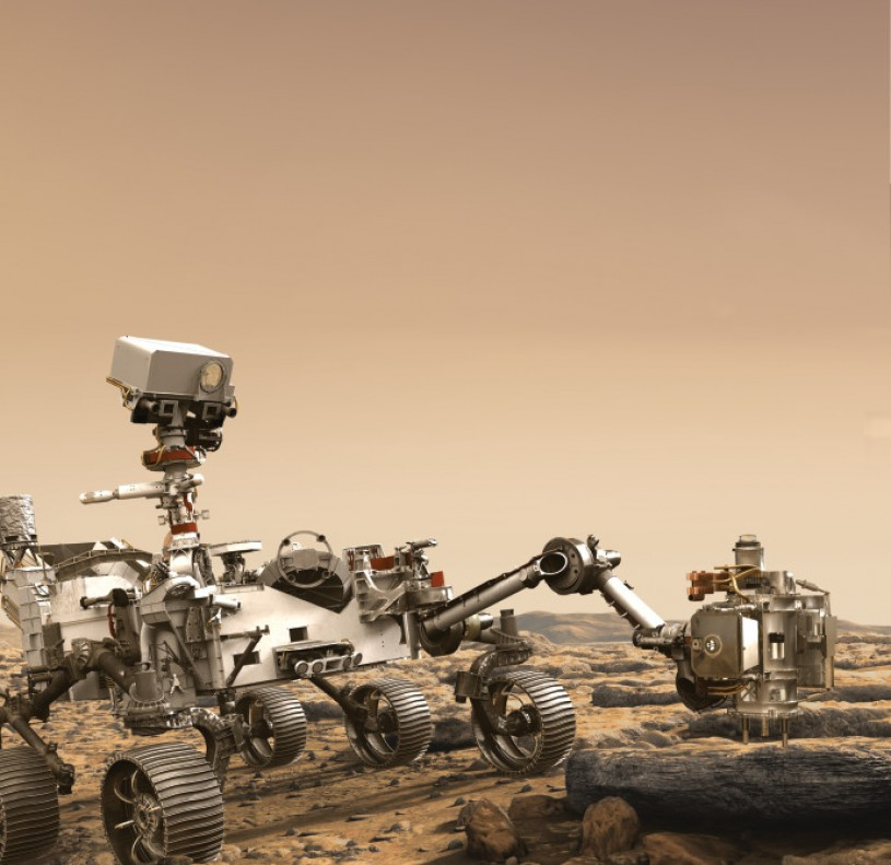 Artist's rendition of NASA's Mars 2020 rover cropped