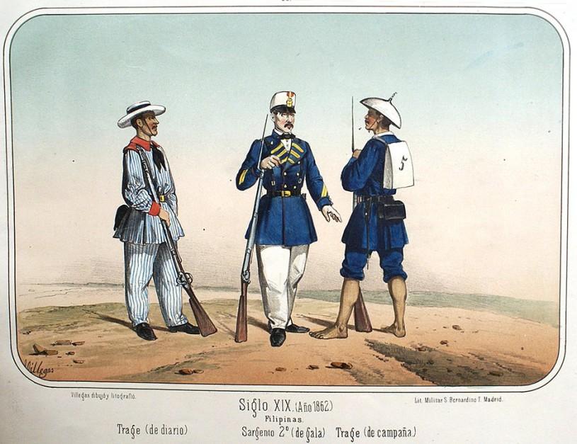 Philippine military uniforms, 1862