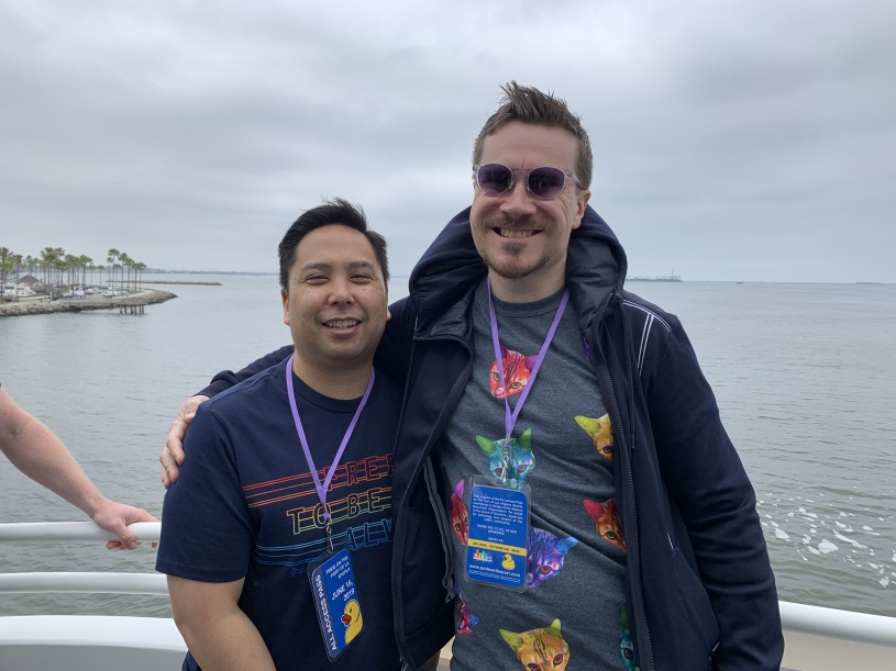 Ryan Quan and Neil Hultgren on boat