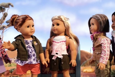 American Girl doll Kira Bailey (center) with married aunts Mamie & Lynette